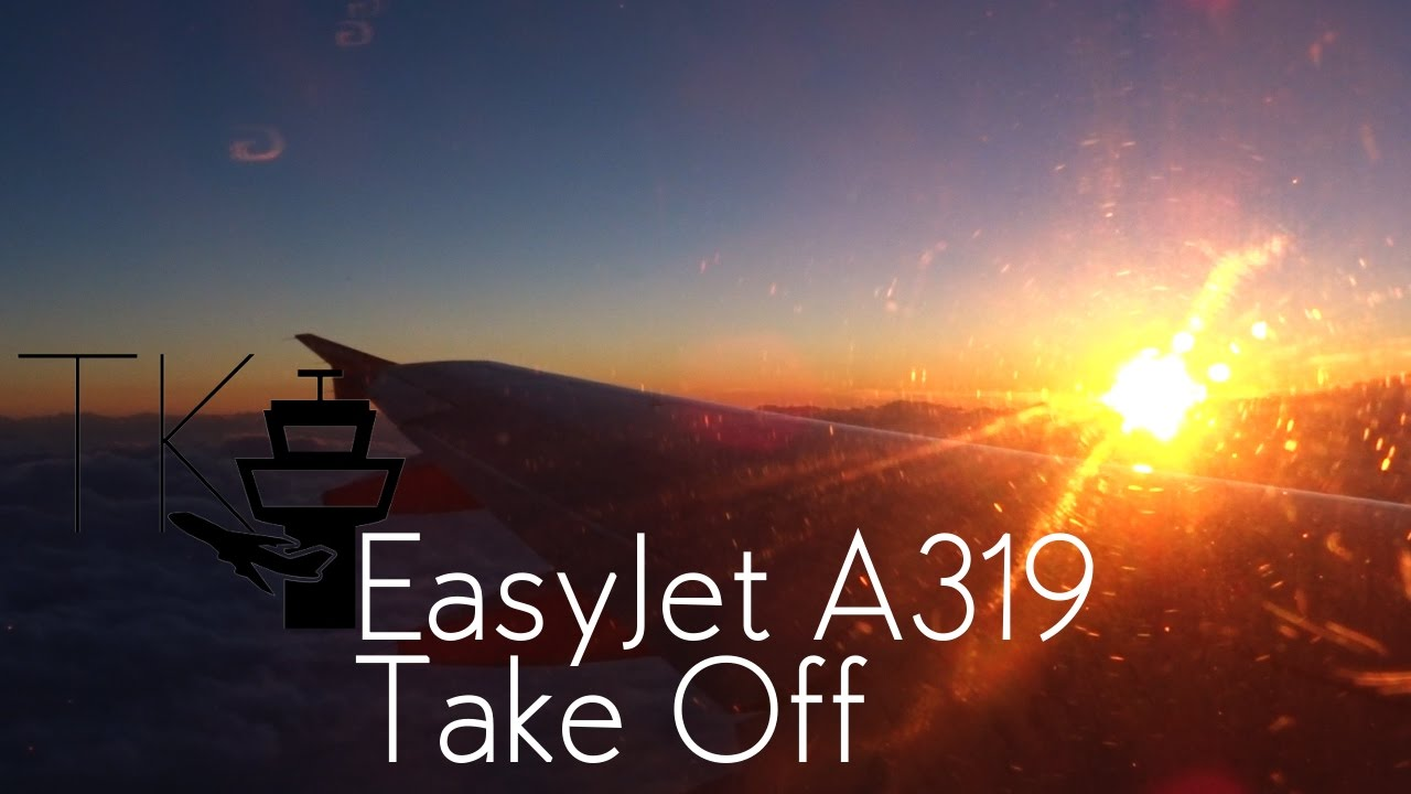 Easyjet Airbus A319 Stunning Sunset Take Off at Venice Marco Polo ...