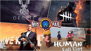 Human Fall Fat & Other games | Fun Pandrom | MidFail-YT Live Stream (14-10-2019)