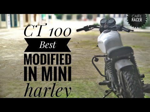 Harley cafe racer from  bajaj ct 100 best modifications of every time