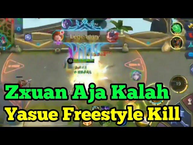 Zxuan Aja Gak Bisa! Kill Pake Freestyle, Yasue Fanny - Mobile Legends