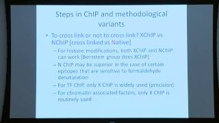 BroadE: Chromatin biology and ChIP methods