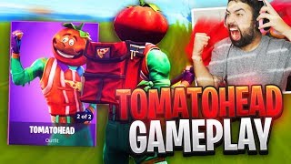 "NEW Fortnite ""TOMATOHEAD"" Skin Gameplay.."