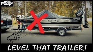 Boating Basics: How to Level Your Trailer