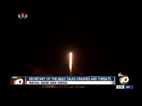 Secretary of the Navy addresses threats like North Korea
