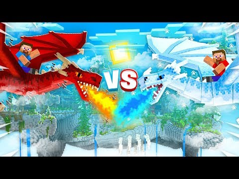 FIRE DRAGONS Vs ICE DRAGONS IN MINECRAFT!