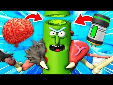 NEW BRINGING SECRET PICKLE RICK TO LIFE (Rick and Morty: Virtual Rick-Ality Gameplay)