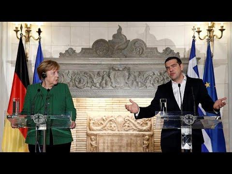 Angela Merkel zu Besuch in Griechenland