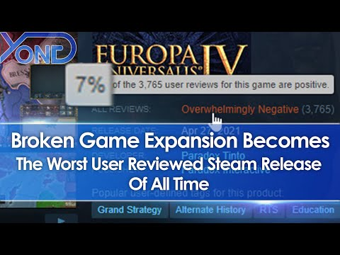 Broken Europa Universalis 4 Leviathan Expansion DLC Becomes Worst User Reviewed Steam Game Ever |