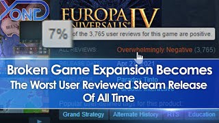 Broken Europa Universalis 4 Leviathan Expansion DLC Becomes Worst User Reviewed Steam Game Ever