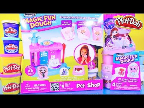 Play Doh Videos Magic Fun Dough Playset Toys Littlest Pet Shop Surprise LPS - Disney Cars Toy Club