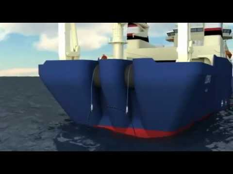 Submarine cable repair animation