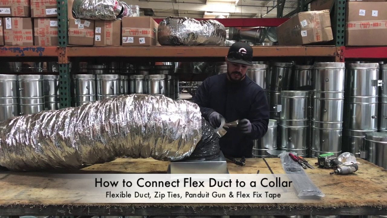 How To Connect Flex Duct A Collar The You