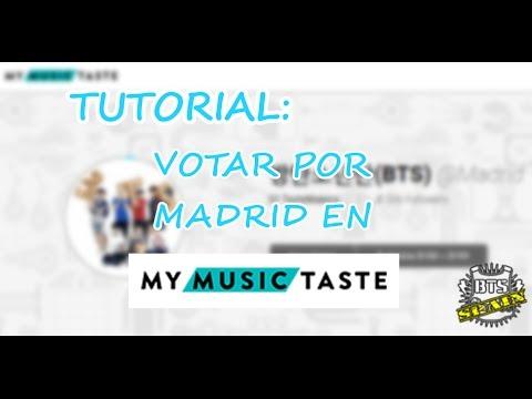 [TUTORIAL] BTS en España: Votar en My Music Taste