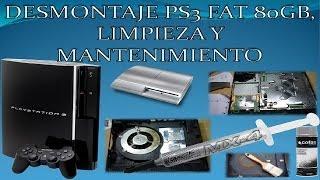 Desmontar PS3 Fat 80GB paso a paso/pieza a pieza, mantenimiento y limpieza