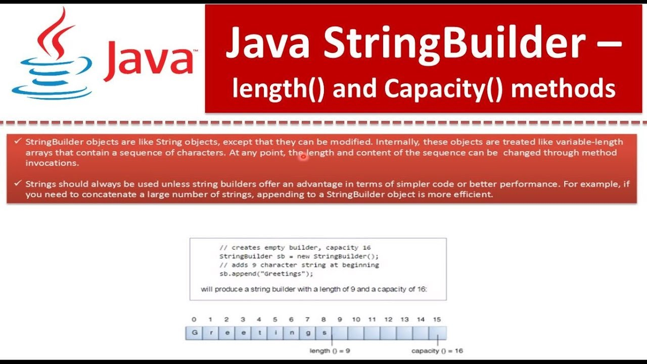 Java tutorial java stringbuilder length and capacity youtube java tutorial java stringbuilder length and capacity baditri Gallery