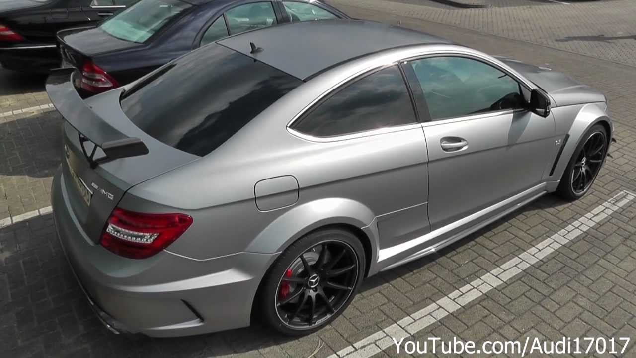 Mercedes C63 Amg Black Series Matte Grey Details Amp Drive By Full Hd Youtube