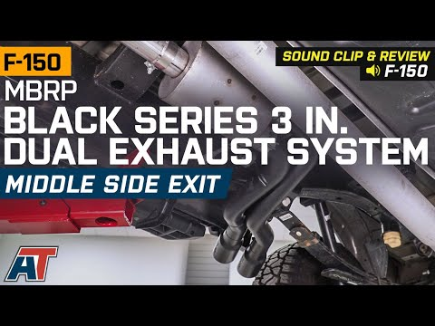 2015-2019 F150 5.0L MBRP Black Series 3 in. Dual Exhaust System - Side Exit Sound Clip & Review