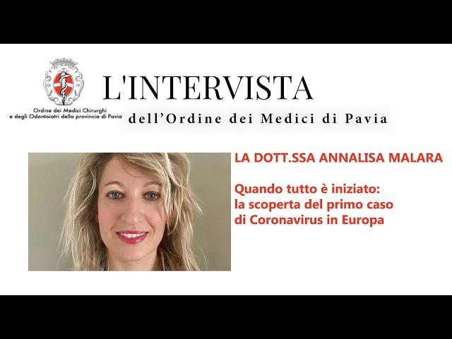SPECIALE COVID - L'intervista alla dottoressa Annalisa Malara