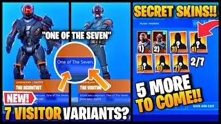 """NEW"" 5 MORE SECRET SKINS COMING TO FORTNITE SEASON 10 !!? (VISITOR VARIANTS)"
