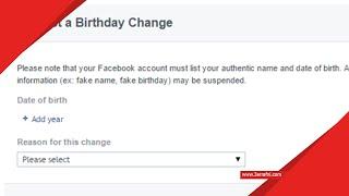 طريقة تغيير تاريخ ميلادك فى الفيس بوك بعد تجاوز الحد الأقصى للتغيير - عرفني دوت كوم