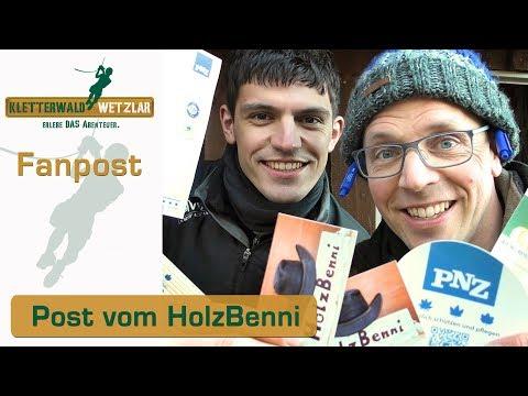 Fanpost vom Holzbenni - heute öffnen wir das Paket, Geile Sachen vielen Dank Kletterwald Wetzlar