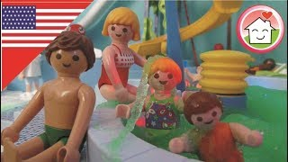Playmobil Movie English Foam Party at the Water Pool Slide Park / Waterpark The Hauser Family