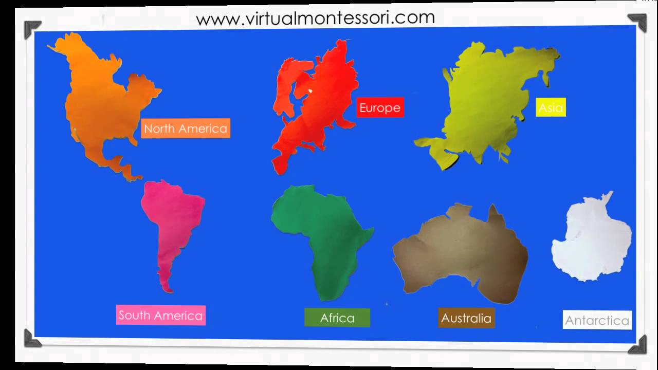 Montessori Inspired Geography The 7 Continents with music2 - YouTube