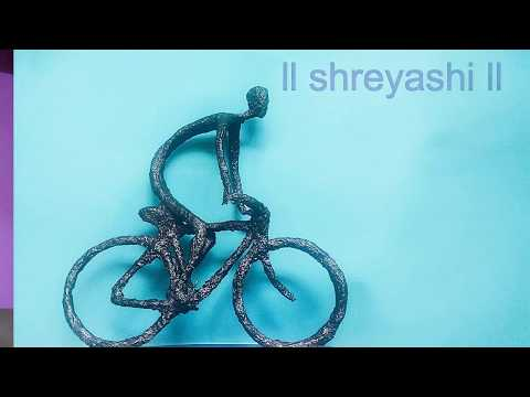 Wire and tissue paper sculpture I DIY room decor I show piece ft. Shreyashi