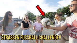 Strassen fussball challenge vs mÄdchen & jungs + bestrafung!!