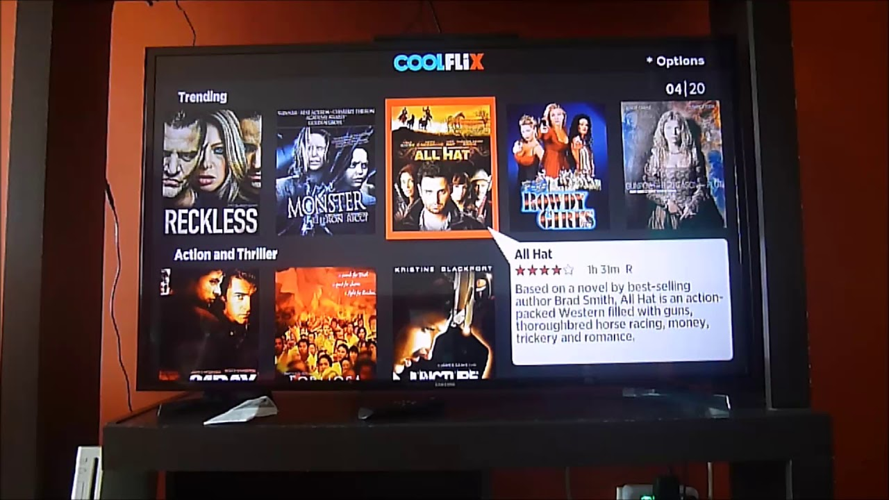 Another great free channel on Roku  Coolflix with lots of movies!
