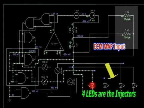 map sensor ecu signal circuit youtube rh youtube com edu circuit project ecu circuit diagrams