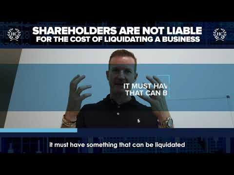 Shareholders Are Not Liable For The Cost Of Liquidating A Business