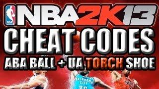 NBA 2K13: CHEAT CODES ABA BALL & UA TORCH SHOE