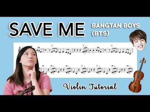 """Save Me"" BTS (방탄소년단) EASY VIOLIN TUTORIAL (w/Sheet Music!)"