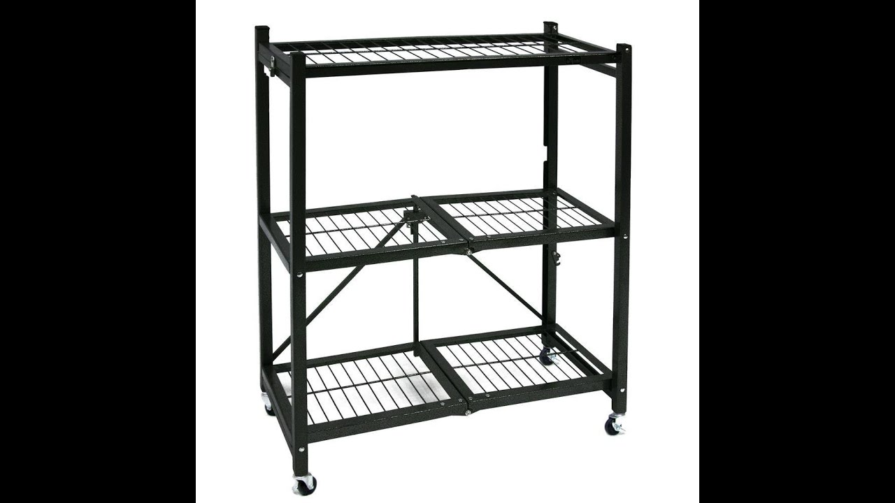 Origami 4-Shelf Folding Rack | The Container Store | 720x1280