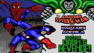 Spider-Man and Captain America in: Dr. Doom Revenge gameplay (PC Game, 1989)