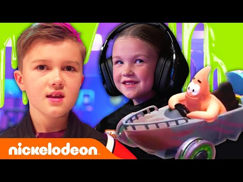 Let's Play Nickelodeon Kart Racers IRL! 🏎 @The Stella Show @Trinity and Beyond @Madison and Beyond | Nickelodeon