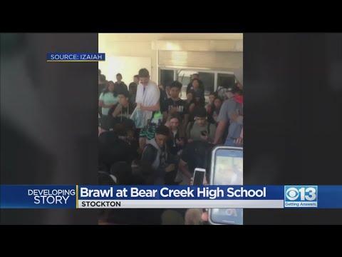 Trevor Carey - Brawl Erupts at Bear Creek High School in Stockton