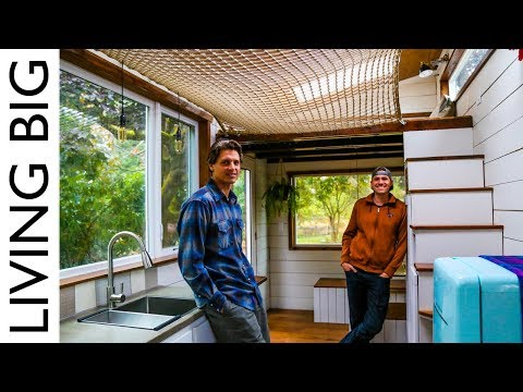 Diy Tiny House With Amazing Loft Hammock