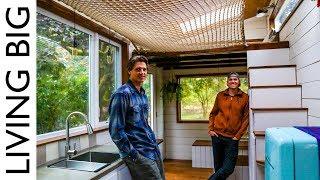 DIY Tiny House With Amazing Loft Hammock