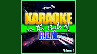 The Sidewinder Sleeps Tonight (In the style of R.E.M) (Karaoke Version)