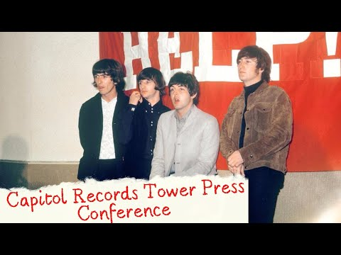 Capitol Records Tower Press Conference - The Beatles [Eng/Spa Subtitles]