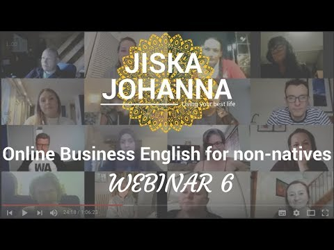 Online Business English for non-native English speakers:Webinar 6 about accents