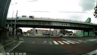 練馬区錦→254号線(川越街道)→赤塚駅→成増駅→埼玉県和光市広沢