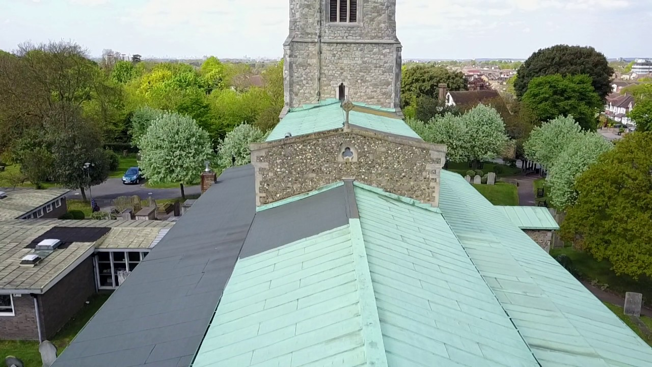 St Andrews Church Hornchurch Drone