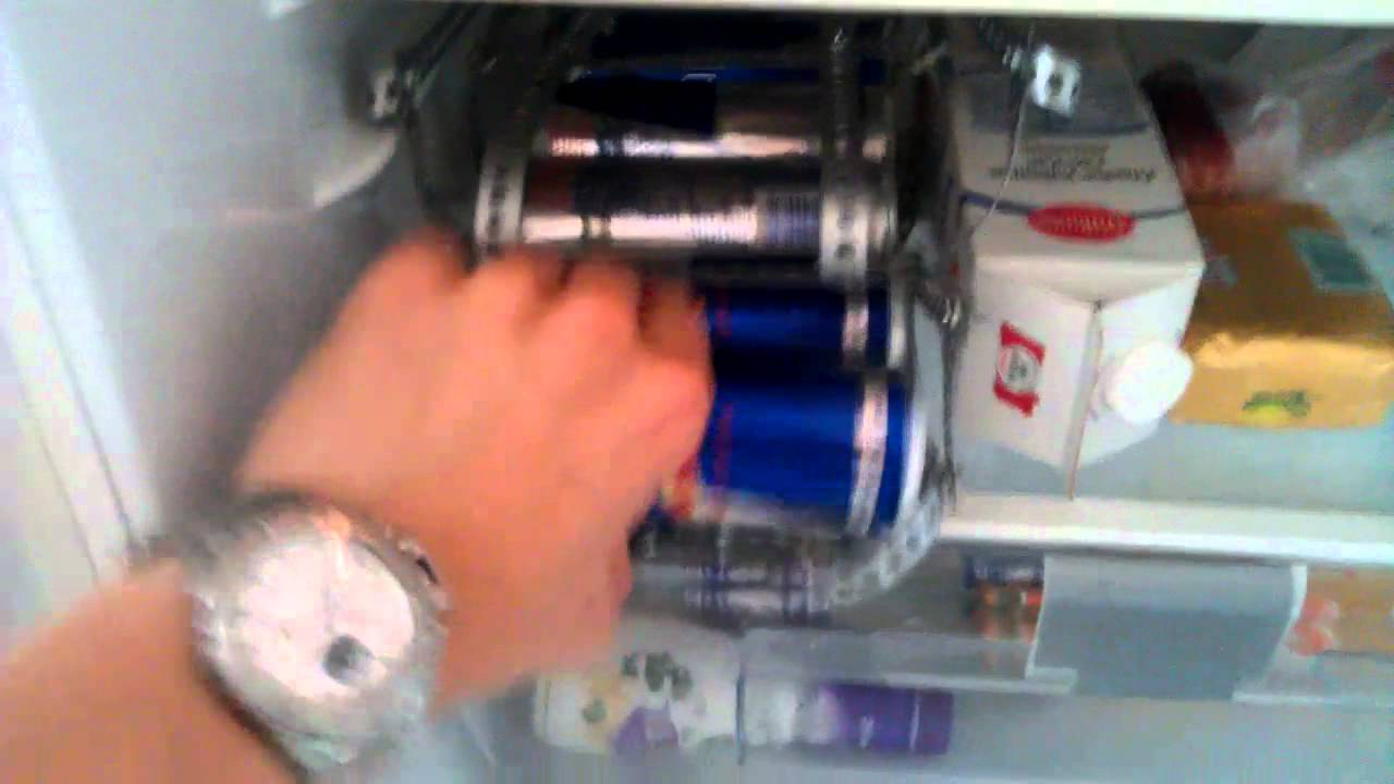 Red Bull Kuehlschrank Dose : Redbull blue edition kühlschrank spender youtube