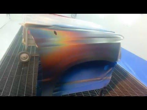 House of Kolor Rainbow Pearl and Spray Overlap Technique