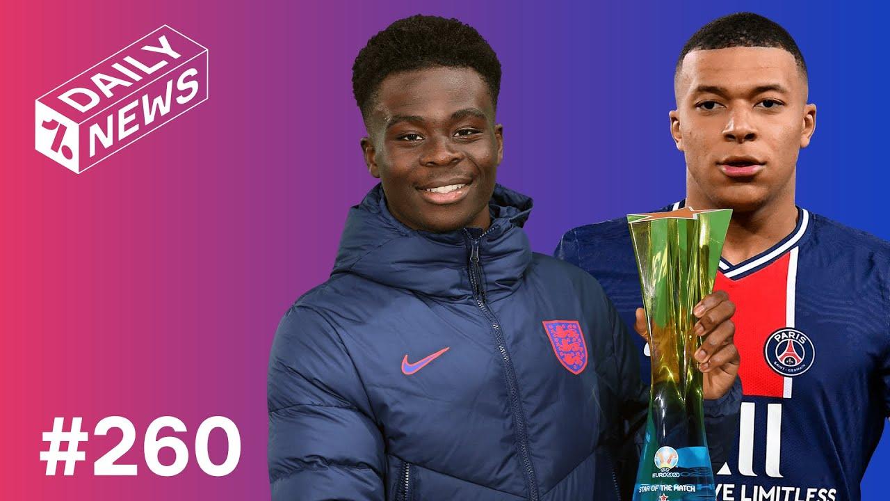 Saka shines for England at Euro 2020! + Mbappe asks to LEAVE PSG?!