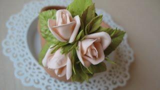 Бутоны розы из фоамирана. Брошь с бутонами розы из фоамирана.