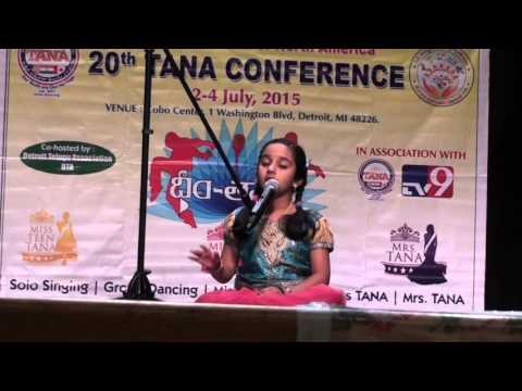 Sai Tanmayi Eyyunni - DHIMTANA competition prelims - classical